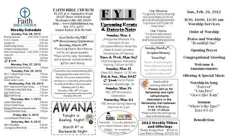 Sample Church Bulletins You Should Experience Sample Church