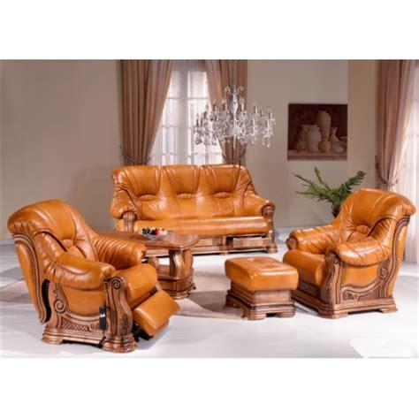 canapé cuir et bois rustique salon rustique cuvette darwin canapé cuir chêne