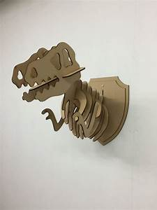 Trophée Animaux Carton : l s en bois animal de t rex troph e t te 3d monde jurassique dinosaure bricolage peinture ~ Melissatoandfro.com Idées de Décoration