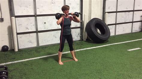 squat rack front kettlebell bands