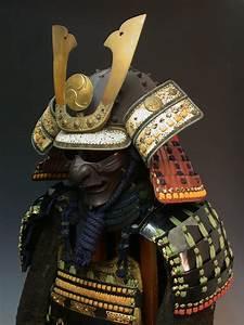 STRANGE JAPANESE SAMURAI HELMET & ARMOR DISPLAY