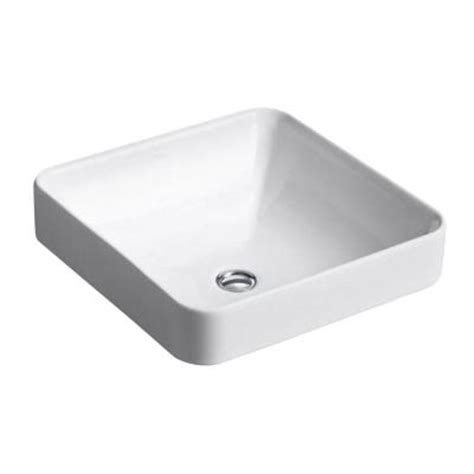 Kohler Vox Sink Home Depot kohler vox vitreous china vessel sink in white with