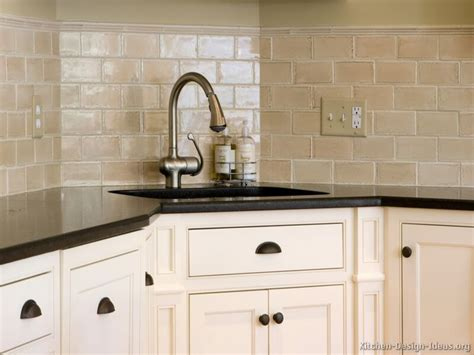 White Kitchen Tiling Ideas, Beveled Subway Tile Subway