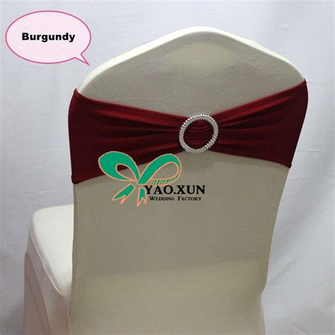 burgundy color chair sash chair band with buckle for