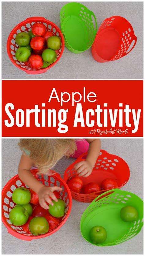 apple lessons for preschool a apple sorting activity for toddlers kid activities 169