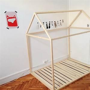 Lit Cabane Au Sol : lit cabane montessori simple lit cabane bois massif ~ Premium-room.com Idées de Décoration