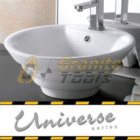 install overmount bathroom sink overmount ceramic vessel sink sis cv08w usa granite tools