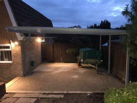 contemporary carport installed  hampshire kappion