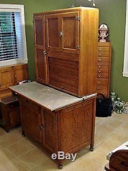 antique oak napanee kitchen cabinet hoosier cupboard fully