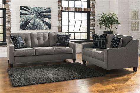 brindon charcoal living room set  ashley  coleman furniture