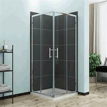 Shower Corner Screen Sliding Square Door Glass