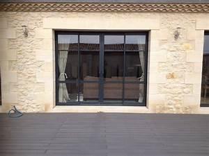 Baie Vitrée Sur Mesure : achat de baie vitr e coulissante en aluminium sur mesure ~ Edinachiropracticcenter.com Idées de Décoration