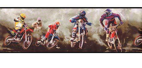 Motocross, Dirt Bikes Wallpaper Border