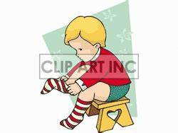 Child putting on socks. | Clipart Panda - Free Clipart Images