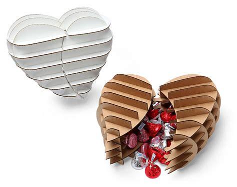 cardboard safari heart shaped gift box