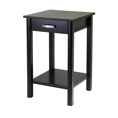 side table with drawer and shelf liso end table printer table with drawer and shelf