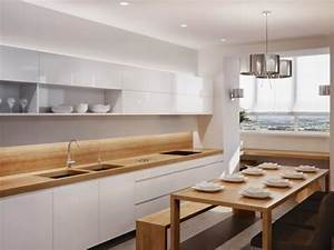 Arbeitsplatte Holz Küche : kueche essbereich weisse fronten holz arbeitsplatte 640 480 k che pinterest ~ Sanjose-hotels-ca.com Haus und Dekorationen