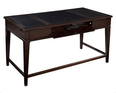 Hekman Desk Leather Top by Leather Top Table Desk By Hekman He 79188