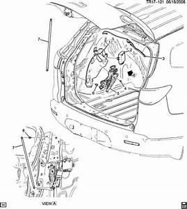 Buick Enclave Rod  End Gate Lock  Rod  L  Gate Actr
