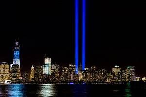 911 Memorial Lights WTC 1 New York City Color