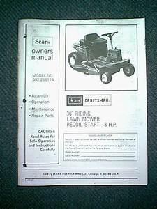 Sears Craftsman 30 U0026quot  8 Hp Riding Mower Model 502 256114