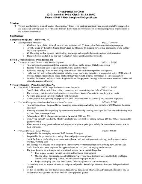 resume 6 sigma