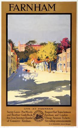 Farnham, Surrey, Southern Railway poster, 1923 1948. by