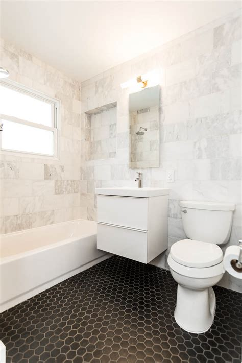 Modern White Bathroom Floor Tile by Wow Mid Century Modern Cherrywood Ranch Just Completed