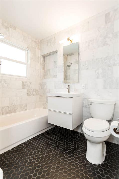 Modern Bathroom Marble Tile by 30 Ideas On Using Hex Tiles For Bathroom Floors 2019