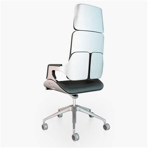 interstuhl silver 362s office chair 3d model max obj fbx
