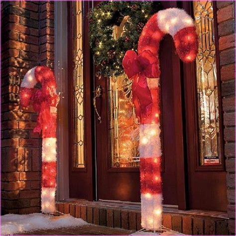large outdoor candy cane decorations christmas