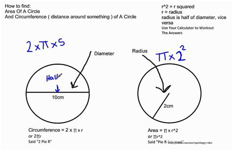 How To Find The Area And Circumference Of A Circle Youtube