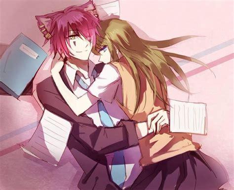 anime couple and cat alice lidell anime boris boris airay cat cheshire couple