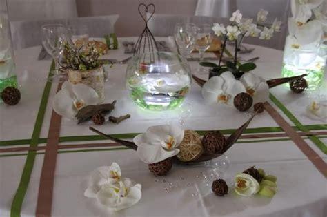 decoration mariage orchidee vert amande idees mariage