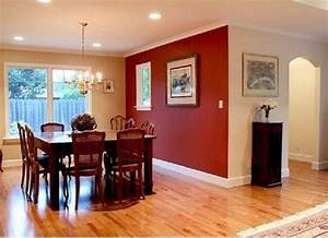 small dining room with merlot red accent wall painting With red dining room color ideas