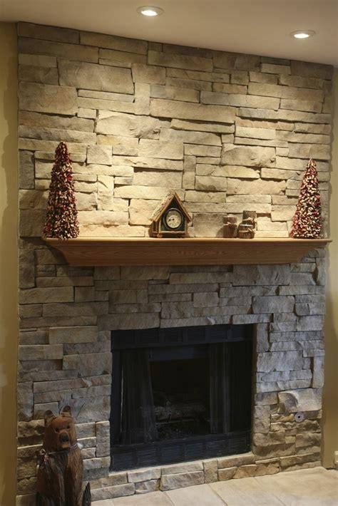 Stacked Stone Fireplaces Ideas Kvrivercom