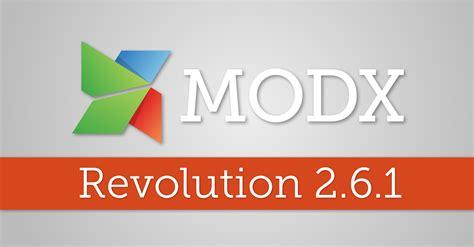 Modx Revolution 2.6.1