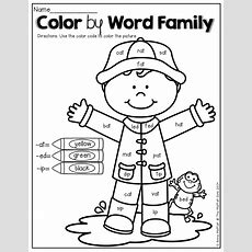 Color By Word Family!  Kinderland Collaborative Pinterest