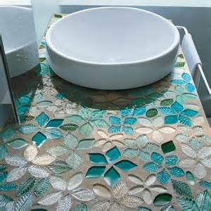 bathroom mosaic ideas decoration ideas leaves and flowers glass mosaic