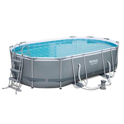 frame pool bestway bestway oval frame pool 16ft x 10ft x 42ft garden jardinitis