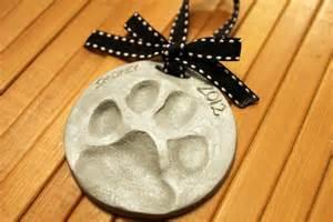 Dog Paw Print Christmas Ornament