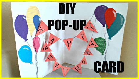 Diy How To Make A Popup Birthday Card Ejournalz
