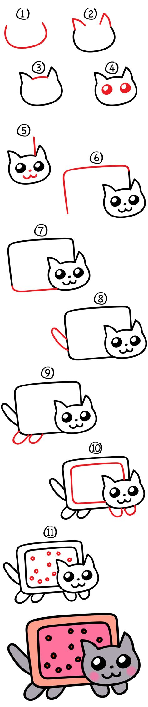 draw  nyan cat art  kids hub