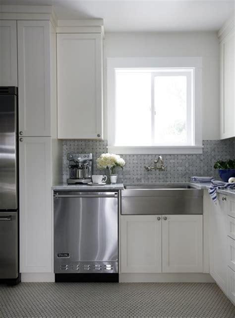 shaker kitchen tiles stainless steel apron front sink design ideas 2175