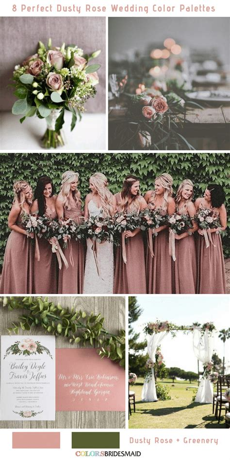 All 20+ Dusty Rose Wedding Color Palettes in 2020 (With