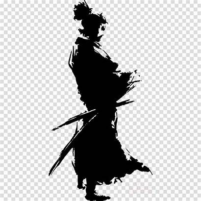 Samurai Japanese Transparent Clipart Warrior Illustrations Silhouette