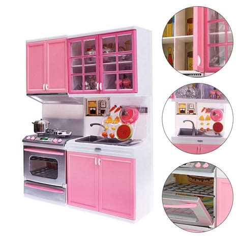 playpink cuisine pink sale kid kitchen pretend play cook cooking