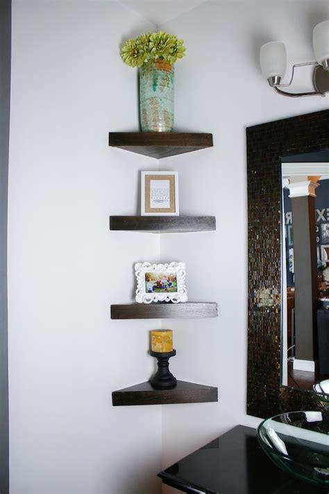 how to build a shelf how to build a corner shelf