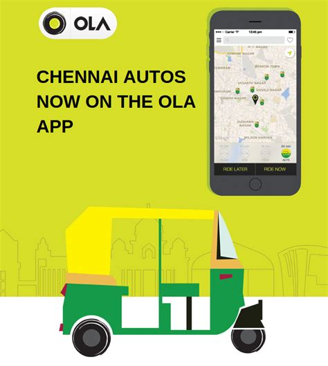 Ola Launches Auto Service In Chennai