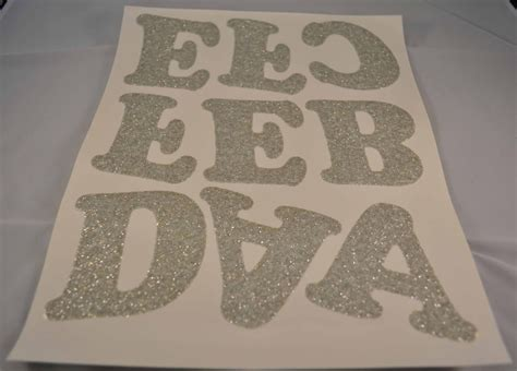 how to iron on letters iron on letters silver glittered 3 quot 1 sheet 32169